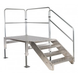 Tri Arc - TAVSM34-AS - Work Platform, Aluminum, Single Access Platform Style, 28 to 35 Platform Height