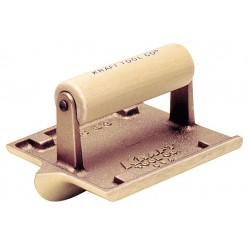 Kraft Tool - CF305 - Concrete Groover, Bronze/Wood, 1/4 Radius