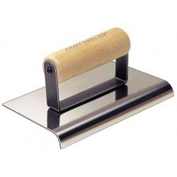 Kraft Tool - CF165 - Sidewalk Edger, SS/Wood, 1/2 in Radius