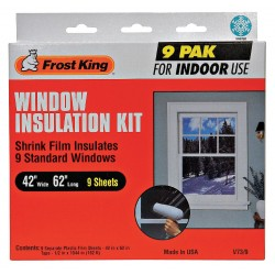 Frost King - V73/9H - Shrink Window Kit, Indoor, 42 x 62 In