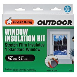 Frost King - V93A - Window Kit, Outdoor, 42 x 62 In