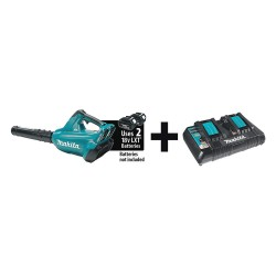 Makita - XBU02Z & DC18RD - X2 18V Lion Blower Dual Port Charger