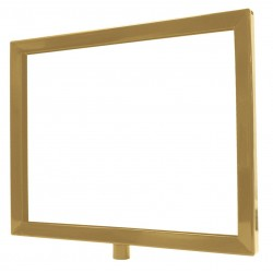 Lawrence Metal Products - FRAME-NOSC-2S-1114HD-H - Sign Frame, Satin Brass, 11 x 14In