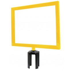 Lawrence Metal Products - FRAME-NOSC-35-1114HD-H - Sign Frame, Yellow, 11 x 14 In.