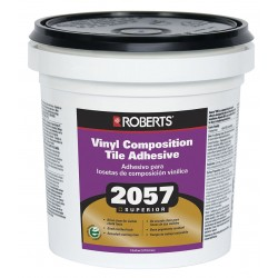 QEP - 2057-1 - Beige 1 gal. Vinyl Composition Tile Adhesive, 24 to 48 hr. Curing Time, 1 EA