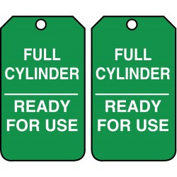 Accuform Signs - MGT203PTP - Accuform MGT203PTP Tag, Full Cylinder Ready For Use, 5 7/8 X 3 3/8, RV-Plastic