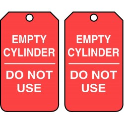 Accuform Signs - MGT202PTP - Accuform MGT202PTP Tag, Empty Cylinder Do Not Use, 5 7/8 X 3 3/8, RV-Plastic