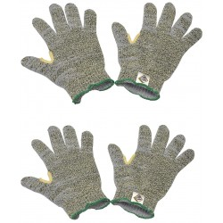 Tilsatec - TTP350-080 - Cut Resistant Gloves, ANSI/ISEA Cut Level 5 Lining, Green, Yellow, 8, PK 12