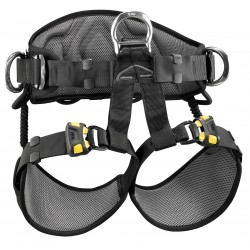 Petzl - C79AFA 1 - Sit Harness with 310 lb. Weight Capacity, Black/Yellow, M/L