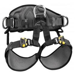 Petzl - C79AFA 2 - Sit Harness with 310 lb. Weight Capacity, Black/Yellow, L/XL