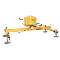 The Caldwell Group - DE16V85D3 - Vacuum Lifters, Horizontal, Max. Lift Load Cap. (Lb.) 1600, Number of Pads 4, 10-5/8