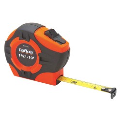Lufkin - PHV1023CMN - 10 ft. Steel Metric Tape Measure, Black/Orange