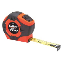 Lufkin - PQR1312N - 12 ft. Steel SAE Tape Measure, Black/Orange