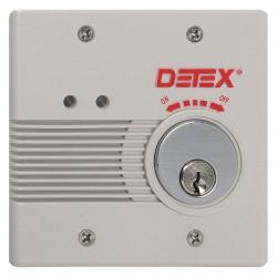 Detex - EAX-2500S GRAY W-CYL - Exit Door Alarm, 12/24VDC, Horn, 100dB