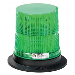 Wolo Manufacturing - 3077P-G - LED Warning Light, Green, 12/100VDC