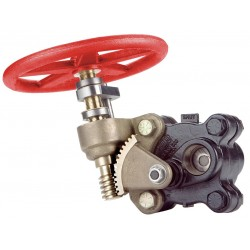 United Brass Works - 299913 - FNPT Gate Valve, Inlet to Outlet Length: 7-51/64, Pipe Size: 1-1/2, Max. Fluid Temp.: 500F