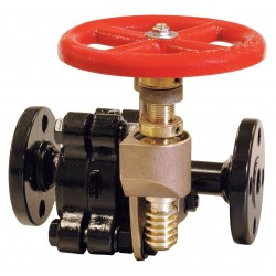 United Brass Works - 314012 - Flange Gate Valve, Inlet to Outlet Length: 9-45/64, Pipe Size: 1-1/4, Max. Fluid Temp.: 500F