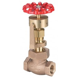 United Brass Works - 293981 - FNPT Gate Valve, Inlet to Outlet Length: 3-3/32, Pipe Size: 3/4, Max. Fluid Temp.: 406F