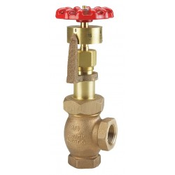 United Brass Works - 294001 - FNPT Gate Valve, Inlet to Outlet Length: 1-21/32, Pipe Size: 3/4, Max. Fluid Temp.: 406F