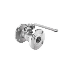 Keckley - BVF1RF2RSSRGSL-400 - 316 Stainless Steel Flanged x Flanged Ball Valve, Locking Lever, 4 Pipe Size