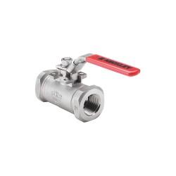 Keckley - BVS3THRSSAGSL-200 - 316 Stainless Steel FNPT x FNPT Ball Valve, Locking Lever, 2 Pipe Size
