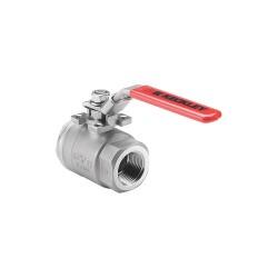 Keckley - BVS2THFSSRGSL-150 - 316 Stainless Steel FNPT x FNPT Ball Valve, Locking Lever, 1-1/2 Pipe Size