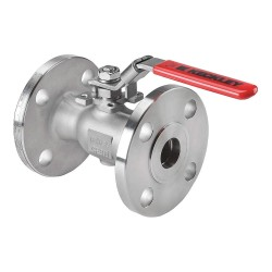 Keckley - BVF1RF2RSSRGSL-100 - 316 Stainless Steel Flanged x Flanged Ball Valve, Locking Lever, 1 Pipe Size