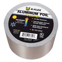 K-Flex - 800TAPEALF4 - 150 ft. x 4 Aluminum Pipe Insulation Tape, -31 to 248F, Silver