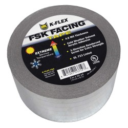 K-Flex - 800TAPEALFSK3 - 150 ft. x 3 Aluminum Pipe Insulation Tape, -31 to 176F, Silver