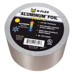 K-Flex - 800TAPEALF3 - 150 ft. x 3 Aluminum Pipe Insulation Tape, -31 to 248F, Silver