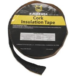 K-Flex - 800-TAPE-CRK - 30 ft. x 2 Cork/Rubber Pipe Insulation Tape, -20 to 190F, Black