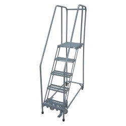 Cotterman - 1005R2630A2E30B4C1P6 - 5-Step Rolling Ladder, Antislip Vinyl Step Tread, 80 Overall Height, 450 lb. Load Capacity