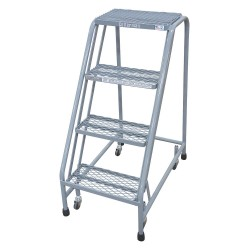 Cotterman - 1004N1820A6E10B3C1P6 - 4-Step Rolling Ladder, Perforated Step Tread, 40 Overall Height, 450 lb. Load Capacity