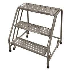 Cotterman - 1003N2630A6E10B3C1P6 - Steel Rolling Step, 30 Overall Height, 450 lb. Load Capacity, Number of Steps: 3