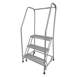 Cotterman - 1003R2630A3E10B3SSP3 - 3-Step Rolling Ladder, Serrated Step Tread, 60 Overall Height, 450 lb. Load Capacity