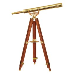 Barska - AA10620 - Barska AA10620 32x80 32 Power Anchormaster Polished Brass Refractor Telescope