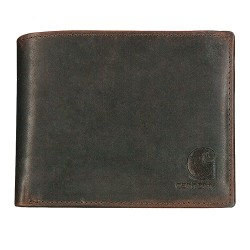 Carhartt - 61-2235-20 - Tri-Fold Wallet, Leather, 4-3/8 in. L