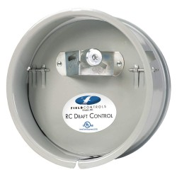 Field Controls - 8'RC - 2-5/8 x 8-11/16 x 8-11/16 Galvanized Steel Barometric Draft Control, Silver