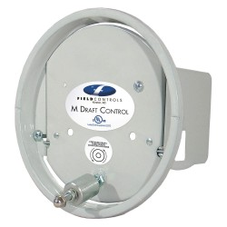 Field Controls - 6'M - 3 x 5 x 5 Galvanized Steel Barometric Draft Control, Silver