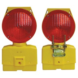Cortina - 03-10-RSBLG - Solar Barricade Light, LED, Red/Yellow
