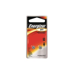 Energizer - 377BPZ2 - Energizer 377 Watch/Electronic Battery - 24 mAh - SR66 - Silver Oxide - 1.6 V DC - 2 / Pack