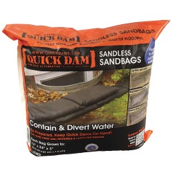 Quick Dams - QD1224-6ES - Water Activated Flood Bag, 1 ft. W x 2 ft. L, 6 PK
