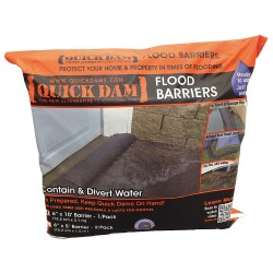 Quick Dams - QD610-1ES - Water Activated Flood Barrier, 6-1/2 W x 10 ft. L, 1 EA