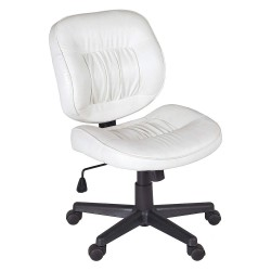 Regency Furniture - 2510WH - Desk Chair, Vinyl, White, 18 to 23 in. H