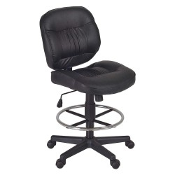 Regency Furniture - 2510STBK - Black Vinyl Task Chair 17 Back Height, Arm Style: No Arms