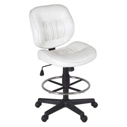 Regency Furniture - 2510STWH - White Vinyl Task Chair 17 Back Height, Arm Style: No Arms