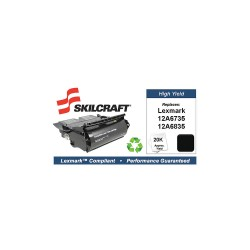 Skilcraft - SKL-12A6835-L - Lexmark Toner Cartridge, No. T520, Black