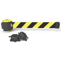 Banner Stakes - MH5007 - Magnetic Retractable Belt Barrier, Yellow/Black