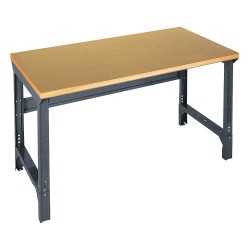 Edsal - 1003W - Bolted Workbench, Shop Top, 30 Depth, 30-1/2 to 34-1/2 Height, 60 Width, 4000 lb. Load Capacity