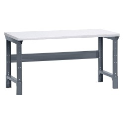 Edsal - 1007L - Bolted Workbench, Laminate, 30 Depth, 30-3/4 to 34-3/4 Height, 72 Width, 4000 lb. Load Capacity